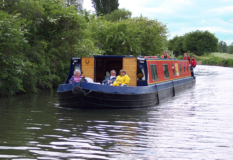 Canal Boat on the River