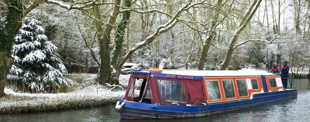 Winter Canal Boat