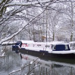 Disabled Canal Boat - Winter Snow