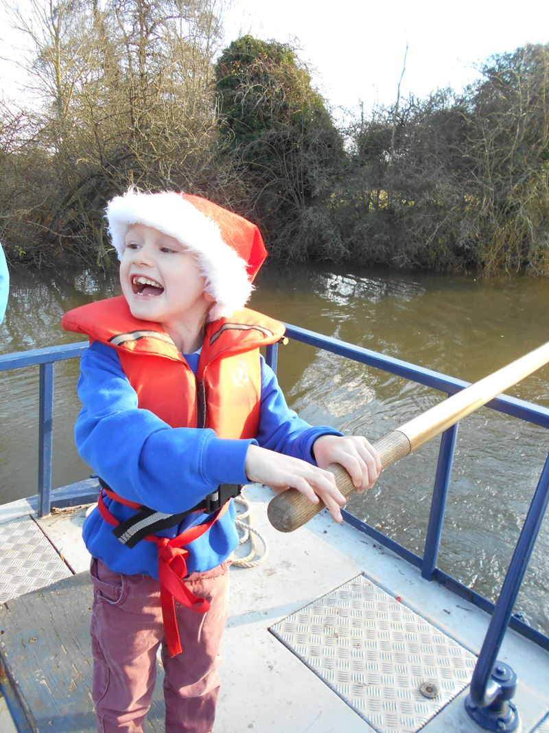 Christmas Cruise Winner - Steering and Smiling!
