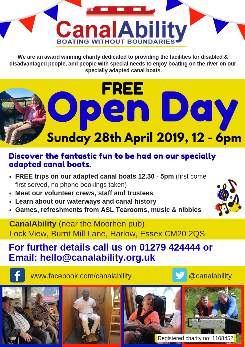 CanalAbility Open Day 2019 leaflet