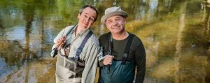 Bob Mortimer and Paul Whitehouse Gone Fishing episode featuring CanalAbility adaped canal boat