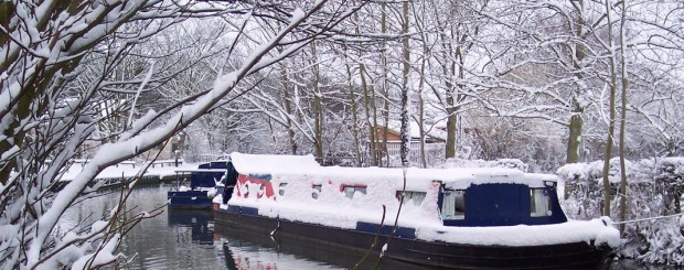 CanalAbility adapted canal boat in winter